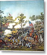Battle Of Atlanta, 1864 Metal Print by Granger