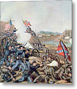 Battle Of Franklin November 30th 1864 Metal Print by American School