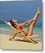 Beach Stretches Metal Print by Tomas del Amo