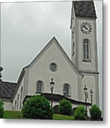 Beautiful Church In The Swiss City Of Lucerne Metal Print by Ashish Agarwal