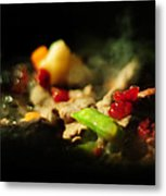 Beef With Vegetables Metal Print by Rebecca Sherman
