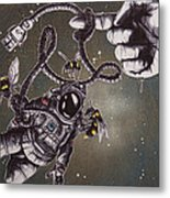 Bees Don't Accept The Limitations Of Physics Metal Print by Tai Taeoalii