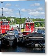 Belfast Tugboats Metal Print by Susan Cole Kelly