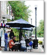 Bentonville On The Square Metal Print by Ann Powell