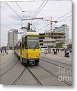Berlin Alexanderplatz Square Metal Print by Matthias Hauser