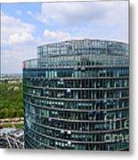 Berlin Bahn Tower Potsdamer Platz Square Metal Print by Matthias Hauser