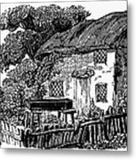 Bewick: Rural House Metal Print by Granger