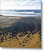 Bi Color Beach  Metal Print by Tim Fitzwater