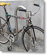 Bicycle With Stickers Metal Print by Wingsdomain Art and Photography