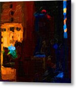 Big City Abstract Metal Print by Wingsdomain Art and Photography