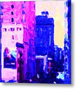 Big City Blues Metal Print by Wingsdomain Art and Photography
