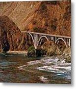 Big Creek Bridge Close Metal Print by Jeff Lowe