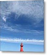 Big Sky Over Algoma Lighthouse Metal Print by Mark J Seefeldt