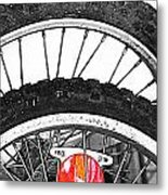 Big Wheels Keep On Turning Metal Print by JC Photography and Art