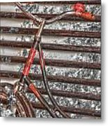 Bikelock Metal Print by JC Photography and Art