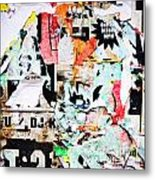 Billboard With Old Torn Posters Metal Print by Richard Thomas