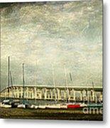 Biloxi Bay Bridge Metal Print by Joan McCool