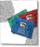 Biometric Id Cards Metal Print by Victor Habbick Visions
