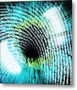 Biometric Identification Metal Print by Pasieka