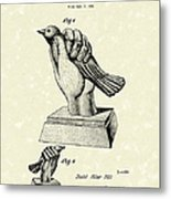 Bird In The Hand Coin Bank 1943 Patent Art Metal Print by Prior Art Design