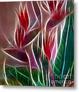 Bird Of Paradise Fractal Panel 2 Metal Print by Peter Piatt