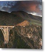 Bixby Bridge Sunset Metal Print by Joe  Palermo
