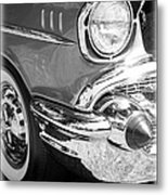 Black And White 1957 Chevy Metal Print by Steve McKinzie