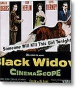Black Widow, Ginger Rogers, Van Heflin Metal Print by Everett