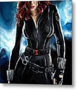 Black Widow Metal Print by Tom Carlton