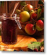 Blackberry And Apple Jam Metal Print by Amanda And Christopher Elwell