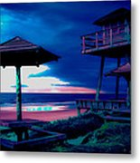 Blacklight Tower Metal Print by DigiArt Diaries by Vicky B Fuller