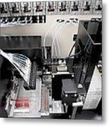 Blood Analysis Machine Metal Print by Tek Image