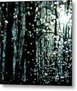 Blue Burns The Twilight Metal Print by Rebecca Sherman