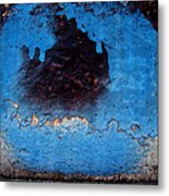 Blue Circle  Metal Print by Ludmil Dimitrov