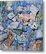 Blue Creek Stones Metal Print by Patsy Sharpe