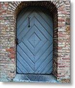 Blue Door Metal Print by Carol Groenen