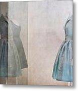 Blue Dress Metal Print by Martine Roch