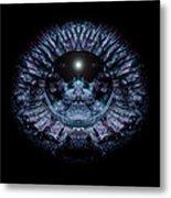 Blue Eye Sphere Metal Print by David Kleinsasser