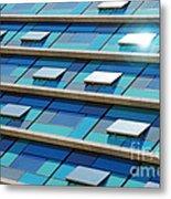 Blue Facade Metal Print by Carlos Caetano