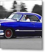 Blue Ford Customline Metal Print by Phil 'motography' Clark