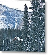 Blue Green Mountain Metal Print by Lisa  Spencer
