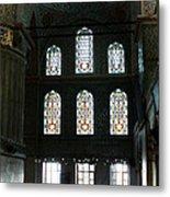 Blue Mosque Prayers Metal Print by Leslie Leda