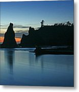 Blue On Blue Metal Print by Winston Rockwell
