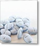 Blue Pills Metal Print by Blink Images