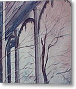 Blue Snow Metal Print by Patsy Sharpe
