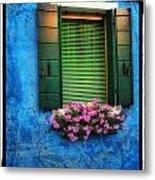 Blue Wall Metal Print by Mauro Celotti