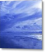 Blue Waterscape Metal Print by Christine Mariner