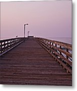 Boardwalk At Dawn Metal Print by David Buffington