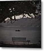boat on the Lago Maggiore Metal Print by Joana Kruse