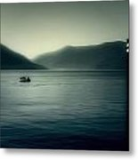 boat on the Lake Maggiore Metal Print by Joana Kruse